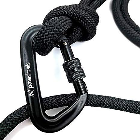 Pawshtails Cuerda negra para perro hecha de cuerda de ...