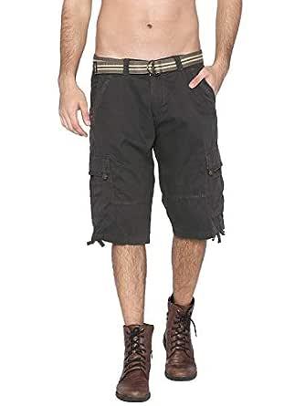 Fifty Two Dark Grey Cargo Short For Men