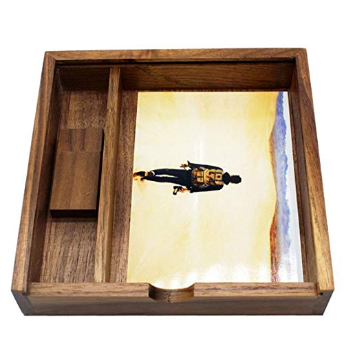JISGUEES 18018050Mm Fashion Maple/Walnut Wood Photo Unique Album Box Creative Collection Box DIY Wedding Memory Dropship Walnut