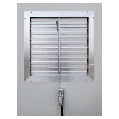 Motorized Heavy-Duty Aluminum Shutter 18'' by Growers Supply