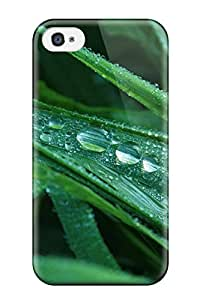 High-quality Durability Case For Iphone 4/4s(dew Drops On Grass)