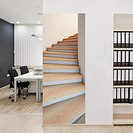 3D Escaleras Creativas Puerta Puerta Autoadhesiva Murales Etiqueta de la Pared Etiqueta de la Escalera Escalera