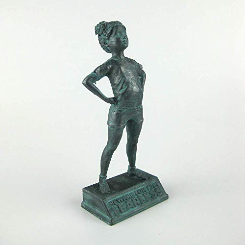 Girl Power-Tia: Beware for I am Fearless - Customizable, motivational and inspirational girls room decoration figurine in bronze finish