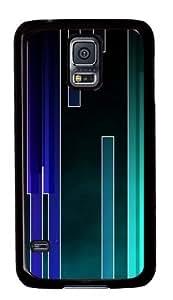 Colored Stripes Custom Samsung Galaxy S5/Samsung S5 Case Cover Polycarbonate Black