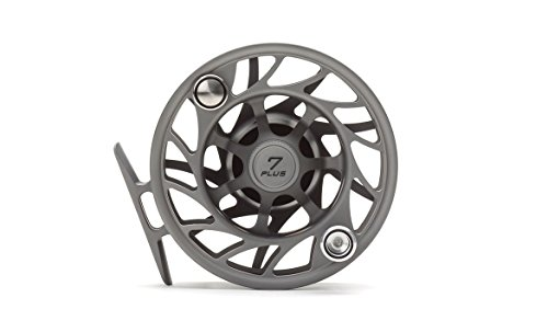 Hatch Gen 2 Finatic 7 Plus Fly Reel, Gray/Black, Large Arbor (Fishing Fly Hatch)