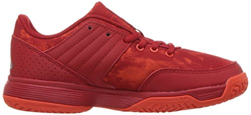 Pictures of adidas Unisex Ligra 5 K Tennis Shoe BY1859 Scarlet/Energy/Metallic Silver 3