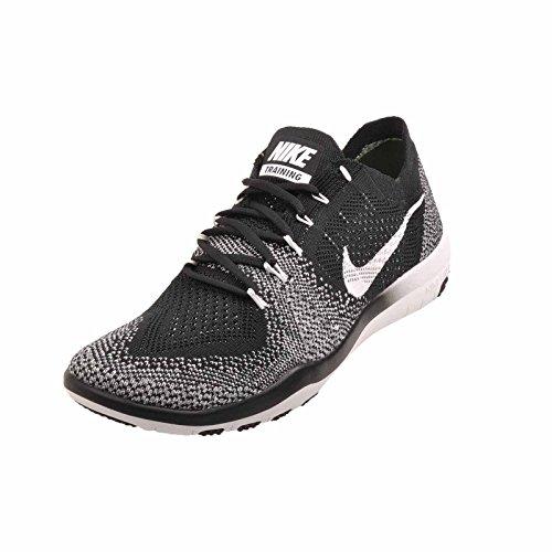 Nike Wmns Free Fokus Flyknit 2 Kryss Trening Sko Sort / Hvitt