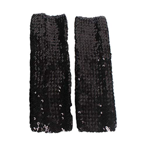 (Funbase Sparkly Arm Sleeve Cuff Sequin Costume Accessory for Dance Evening Party)