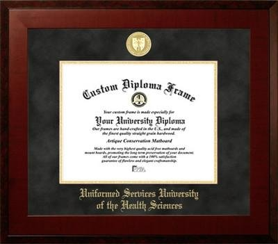 Uniformed Services University of the Health Sciences Contemporary Diploma Frame by Diploma Frame Deals (Image #1)
