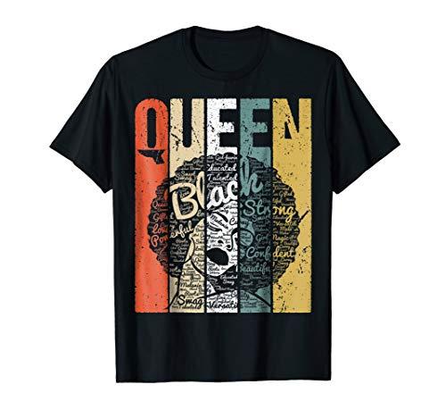 Strong Black Woman Afro Words Art Natural Hair T-Shirt