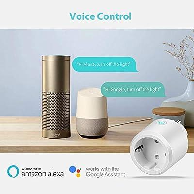 1 Pack Enchufe Inteligente Wi-Fi,Mini Smart Inal/ámbrico Outlet Compatible con Alexa Echo Google Asistente IFTTT Controlado remotamente por iOS y Android APP