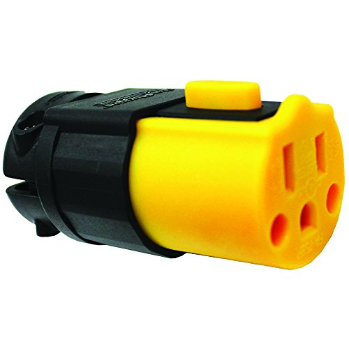 Serpentec 630-15AREPLEND Locking Outdoor Extension Cord Replacement End, Yellow and (15 Locking Connector)