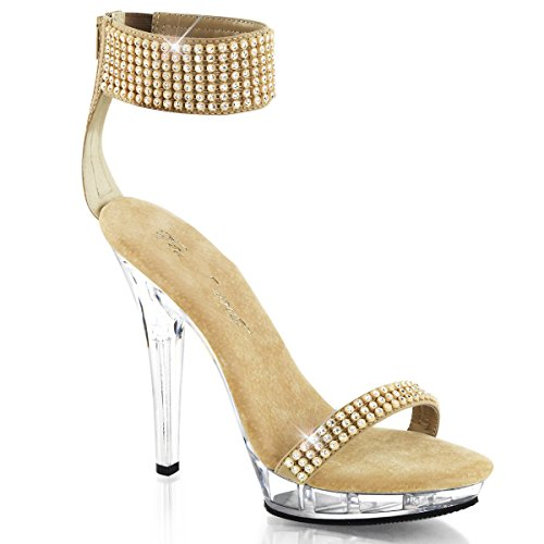 Fabulicious Lip-140 - sexy chaussures Femmes talon hauts mini plateau sandalettes 35-43