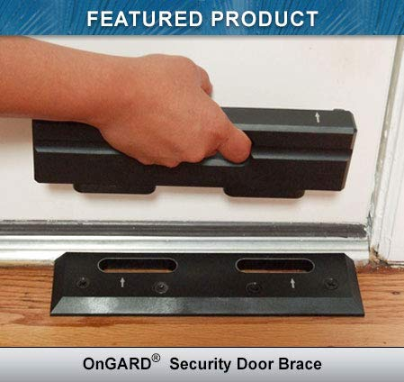 Security Door Brace | Door Barricade | Prevents Home Invasions & Burglaries | OnGARD Withstands up to 3000 Lbs of Violent Force.