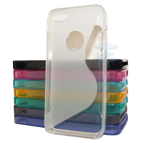 Posh Style Apple Iphone 4 4G 4S Clear Silicone Gel S Line Grip Case Cover For Apple Iphone 4 4G 4S By G4GADGET®