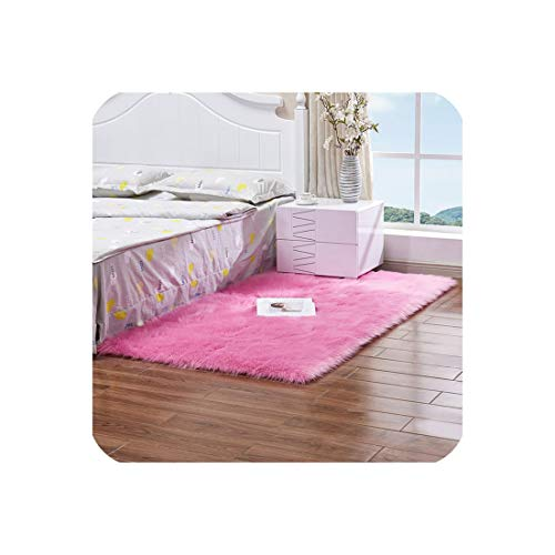 Long Faux Fur Wool Fluffy Carpets for Living Room Plush Chair Seat Cover Area Rug Bedroom Carpet Mat Home Decor,13,100X120Cm