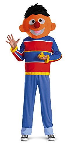 Disguise Men's Sesame Street Ernie Costume, Red/Blue/Tan/Black,
