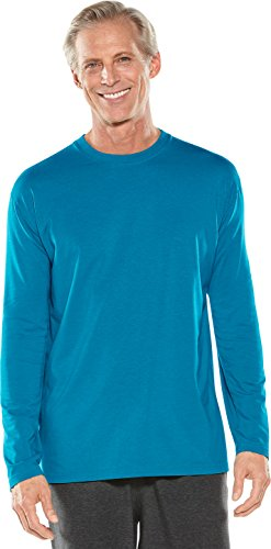 Coolibar UPF 50+ Men's Long Sleeve T-Shirt - Sun Protective (X-Large- Nordic (Long Sleeve Sun Protection)