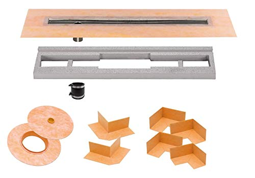 Schluter Systems Kerdi-Line Off-Set Channel Body Shower Drain 48