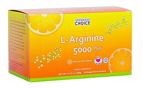 Doctor's Choice(ドクターズチョイス) L-アルギニン5000プラス 390g 約30日分 B00T2R2AFK   1箱(30袋入り)
