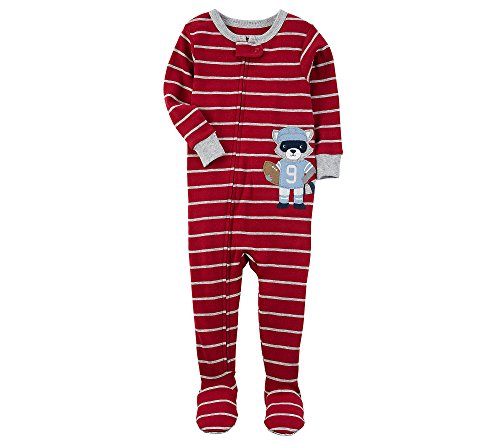 Carters Baby Boys 12M 24M One Piece Striped Football Snug Fit Cotton Pajamas 24 Months