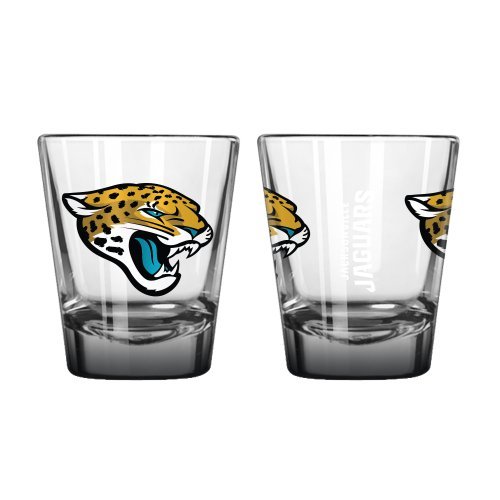 NFL Jacksonville Jaguars Elite Shot Glass, 2-ounce, 2-Pack