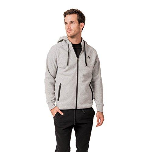 RBX Active Men's Fleece Full-Front Zip-up Hooded Sweatshirt Grey M