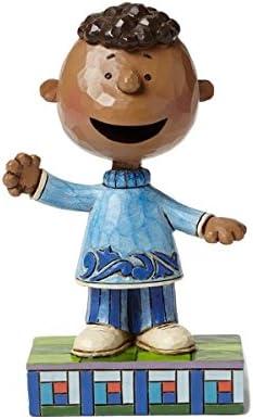 Jim Shore FRIENDLY FRANKLIN Polyresin Peanuts African American 4049404