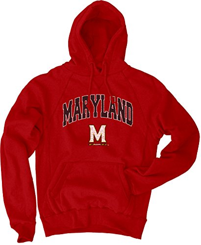 Blue 84 NCAA Maryland Terrapins Men's Sanded Pullover Hoodie, Red, (Maryland Terps Ncaa Hoody)
