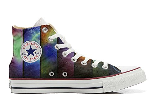 Shoes Custom Converse All Star, personalisierte Schuhe (Handwerk Produkt) Space Saturno