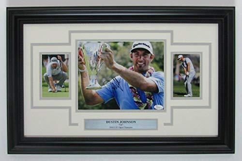 Dustin Johnson Autographed Signed Pga/autographed 8x10 Color Photo Collage Framed JSA 141869