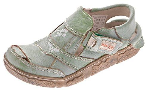 TMA - Sandalias de vestir de Piel Lisa para mujer Verde