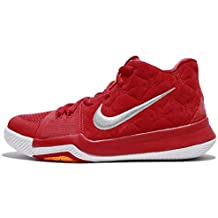 NIKE Kid's Kyrie 3 GS, University RED/University RED-Wolf Grey, Youth Size 4