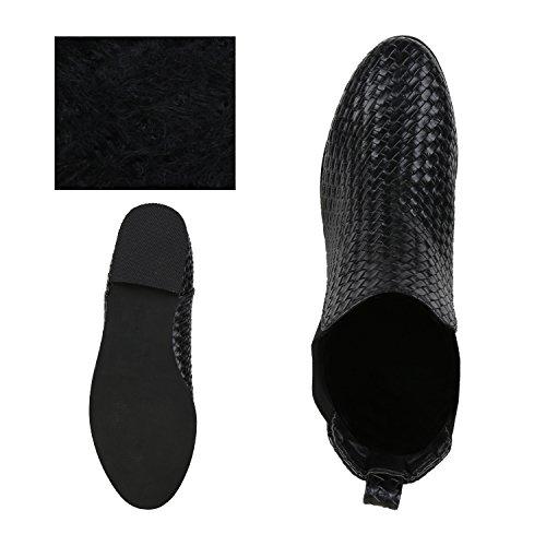 9e7dae6842c5 ... napoli-fashion Damen Stiefeletten Flache Chelsea Boots Leder-Optik  Schuhe Gr. 36-