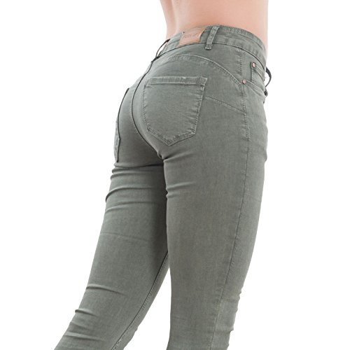 XS Jeans Vert Bleu Toocool Skinny Denim Militaire Femme XxA7AS