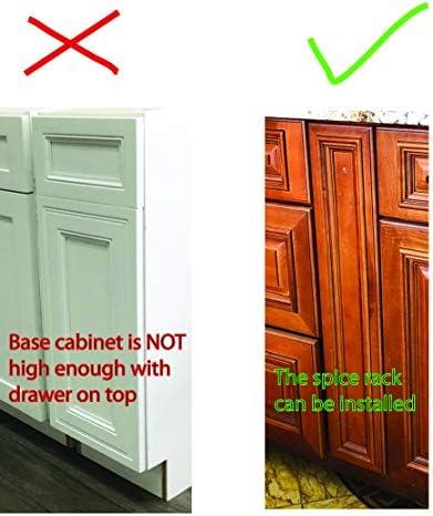 ML-017C Cabinet Spice Rack- 3 shelves Full Pullout Set