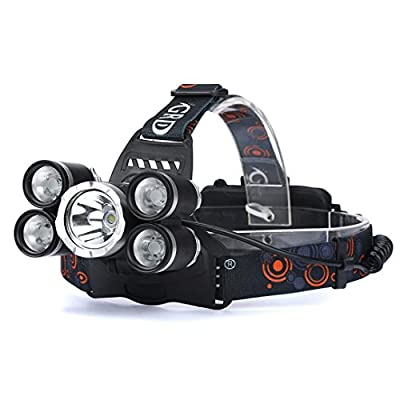 Flashlight, Han Shi 35000LM Headlamp Headlight 5x XM-L T6 LED 18650 Rechargeable Flashlight Head Light Lamp Lighting