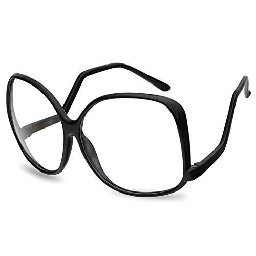 Oversize Vintage 1980's The Golden Girls Inspired Black Clear Lens Eye Glasses (Black Frame | Clear)]()