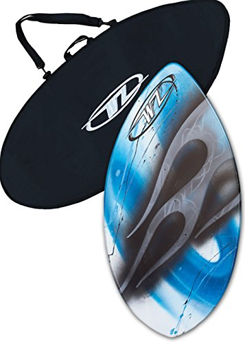 """Skimboard Package for beginners - 36"""" Fiberglass Wave Zone Squirt plus Board Bag and/or Traction Pad - For Riders up to 90 lbs (Board + Bag)"""