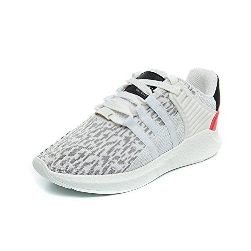 NGRDX&G Calzado Deportivo Zapatos De Malla De Punto De Mujer Calzado Casual Transpirable Estudiante White