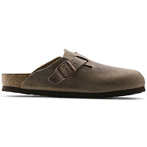 Birkenstock womens Boston in Tabacco Brown from Leather Clog