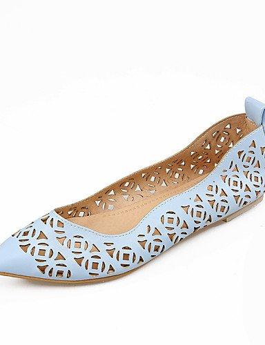 de us8 eu39 rosa uk6 cn40 white señaló talón 5 plano 5 Flats vestido casual Toe azul PDX mujeres Outdoor zapatos las blanco aO1WUq5g