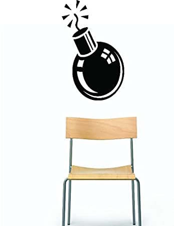 Black 16 x 24 Design with Vinyl RAD 533 2 Military Army Bomb Silhouette Vinyl Wall Decal