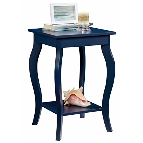 Sauder Harbor View Side Table, L: 15.75'' x W: 15.75'' x H: 23.62'', Indigo Blue finish by Sauder