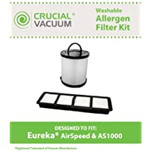 Eureka Airspeed Filter Kit Designed To Fit Eureka Airspeed AS1000 Series Upright Vacuums, Compare To DCF21 Part # 67821, 68931, 68931A, 69963 & EF6 Part # 83091-1, 830911, Designed & Engineered By Crucial Vacuum