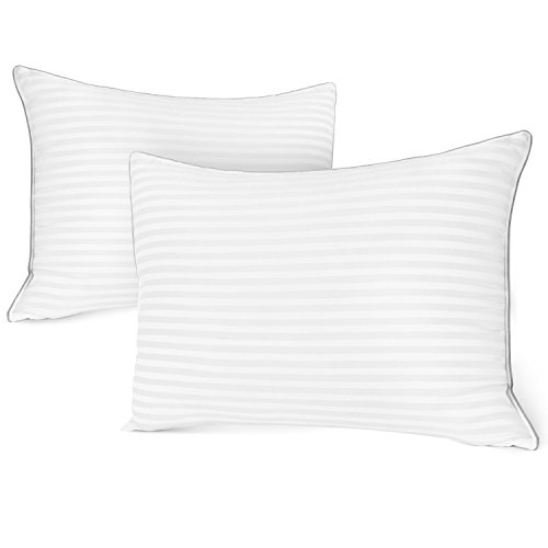 Italian Luxury Plush Gel Pillows (2-Pack) - Premium Quality Luxury 1200 Series Hotel Collection - 50 Oz Fill - King