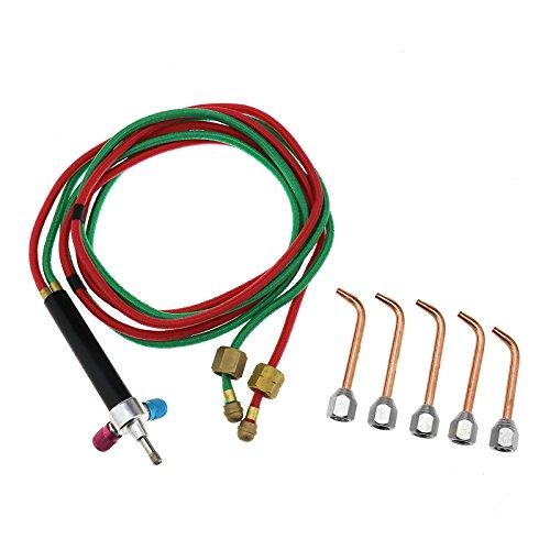 SING F LTD Jewelers Micro Gas Torch Gun Welding Soldering Kit 5 Tips for Jewelry Repairing tool set