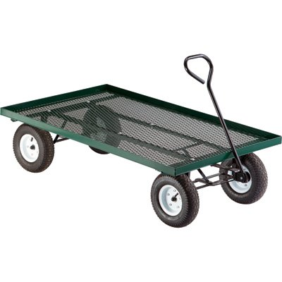 Northern Tool and Equipment Millside Industries Steel Flatbed Garden Wagon - 800-Lb. Capacity, 60in.L x 36in.W, Model Number 04775