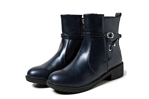 Urethane Buckle AdeeSu Womens SXC02481 Outdoor Mid Boots Calf Blue BwP1qP54