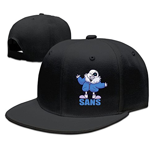 CEDAEI Sans Undertale Role-playing Video Game Role Flat Bill Snapback Adjustable Running Caps Black